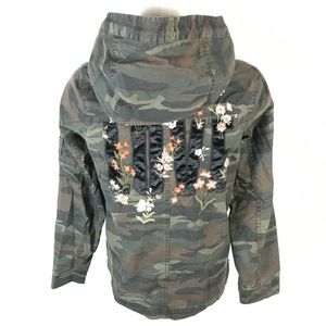 AE floral embroidered camouflage jacket